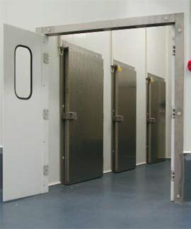 Portes pour chambres froides et chambre de congelation