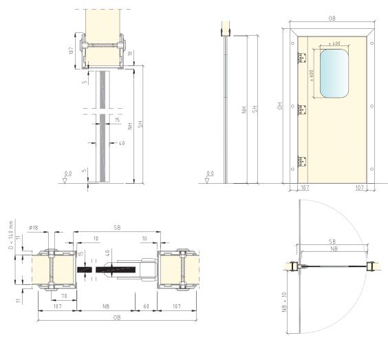 portes pour chambre froide. Black Bedroom Furniture Sets. Home Design Ideas