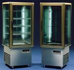 Presentatie vitrine met 4 zijden glas (huur)