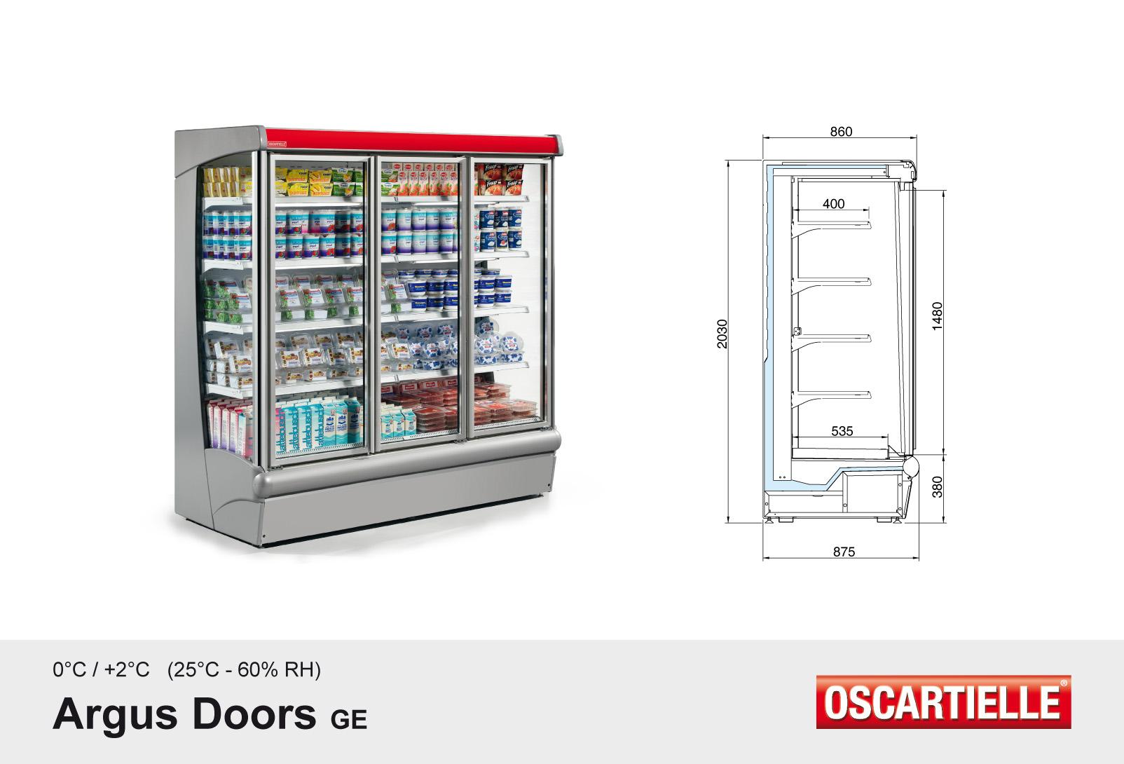 Argus Doors voor koelgroep op afstand