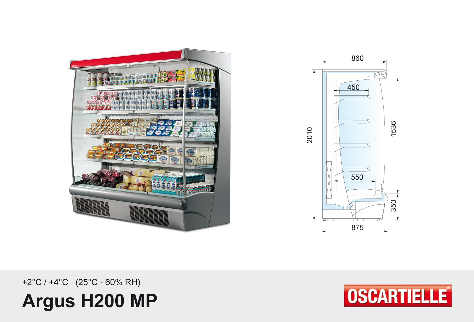 Argus H200 XP/MP/ST/FV met ingebouwde koelgroep
